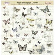 Papel decoupage mariposas