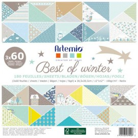 PAPEL SCRAP ARTEMIO BEST OF WINTER 12x12 180 UD