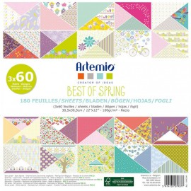 Set de Scrapbooking Best of Spring Artemio 180 hojas 30x30cm