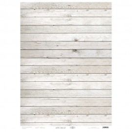 PAPEL CARTONAJE ARTIS DECOR 50X70. MADERA BLANCA